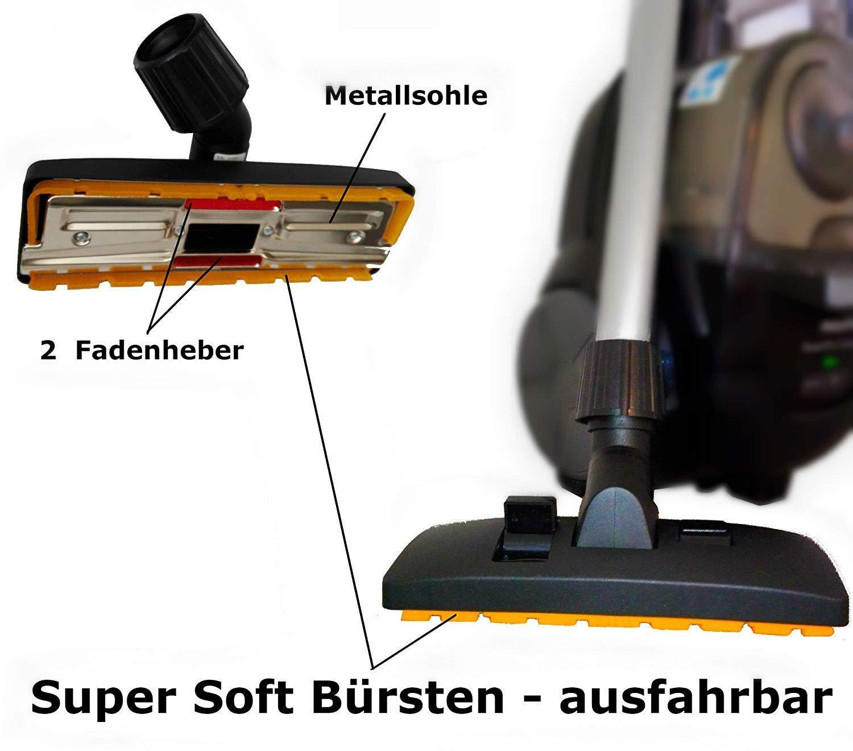 compatible p./ex Dirt Devil Maxorado Brosse combin/ée universelle pour aspirateur Siemens Rowenta Grundig Samsung avec Bosch