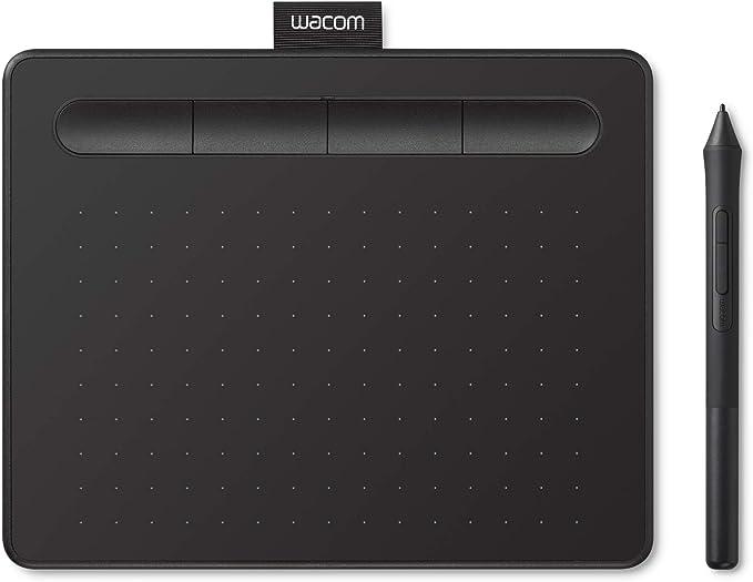 Wacom Intuos S Tableta Gráfica – Tableta Gráfica Portátil para pintar, dibujar, editar photos con 1 software creativo incluido para descargar, óptima ...