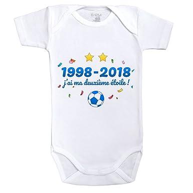 Baby Geek 1998-2018 j AI ma Deuxième étoile - Body Bébé Manches Courtes 033def9c4c3
