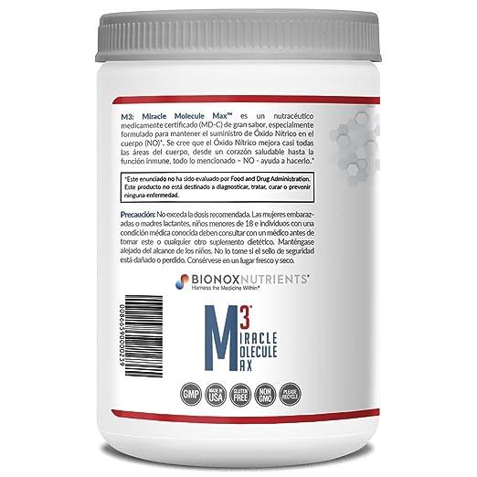 Amazon.com: BioNox Nutrients óxido nítrico Superior - M3 Miracle Molecule Max - Suplemento con Arginina y Citrulina - para Salud Cardiovascular - 60 ...