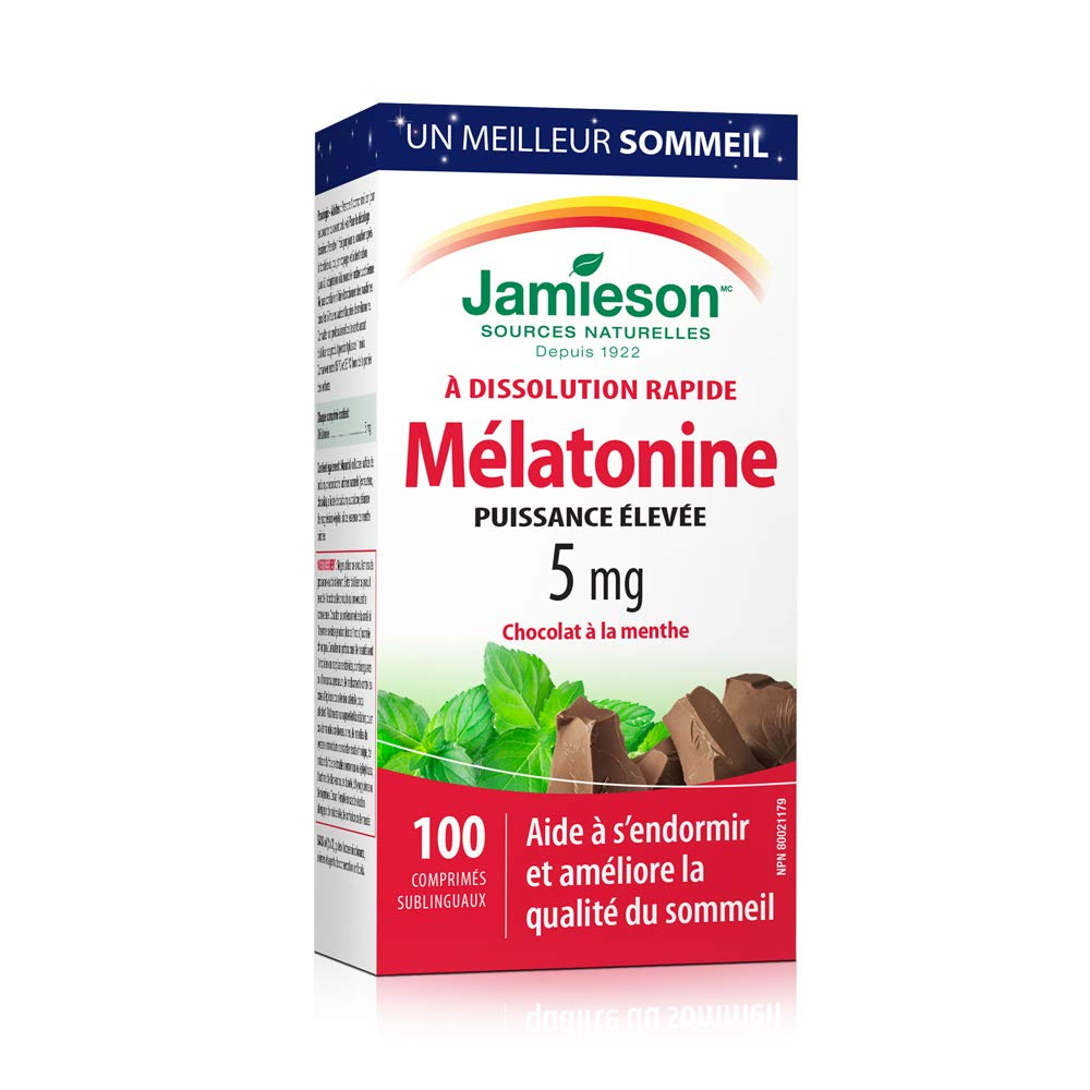 Amazon.com: Jamieson Melatonin 5mg Fast Dissolving Tablets 100 Count: Health & Personal Care