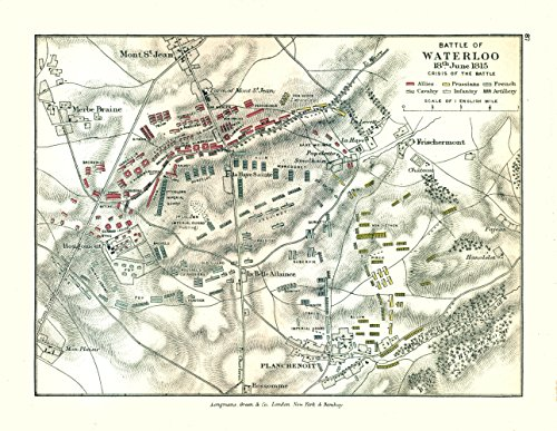 - Battle of Waterloo 1815 Europe - Gardiner 1902-29.68 x 23 - Glossy Satin Paper