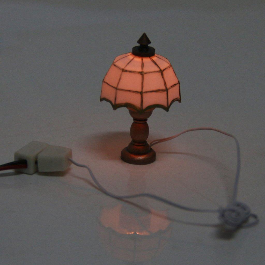 1/12 Lampara De Lectura Blanco De Mesa Mesa De Luz Sombra Casa De Munecas En Miniatura
