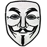 Vendetta Halloween Anonymous Fawkes Guy Mask Embroidered Iron on Patch