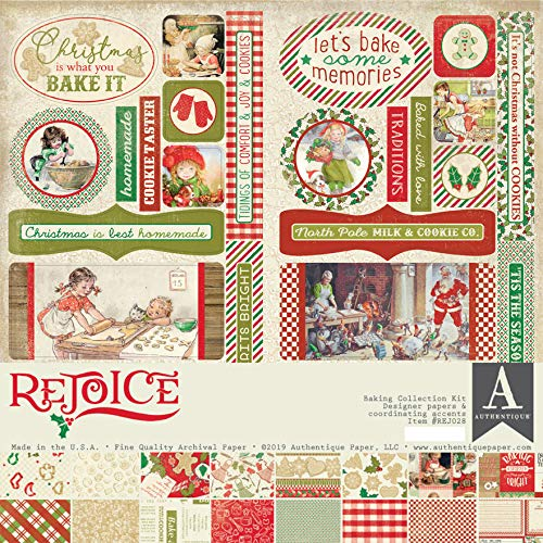 """Authentique Collection Kit 12""""x12""""-rejoice, Holiday Baking Theme from Authentique"""