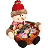 Festival Decoration ,Saingace Christmas Candy Storage Basket Decoration Santa Claus Storage Basket Gift (B)