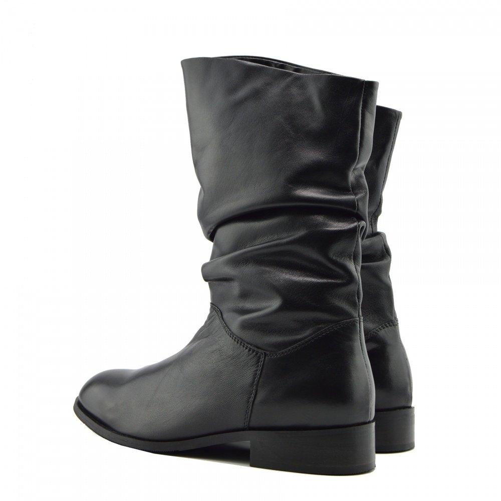 Kick Footwear Femmes Style Classique Cuir V/éritable Mi Mollet /Équitation Appartements Bottes