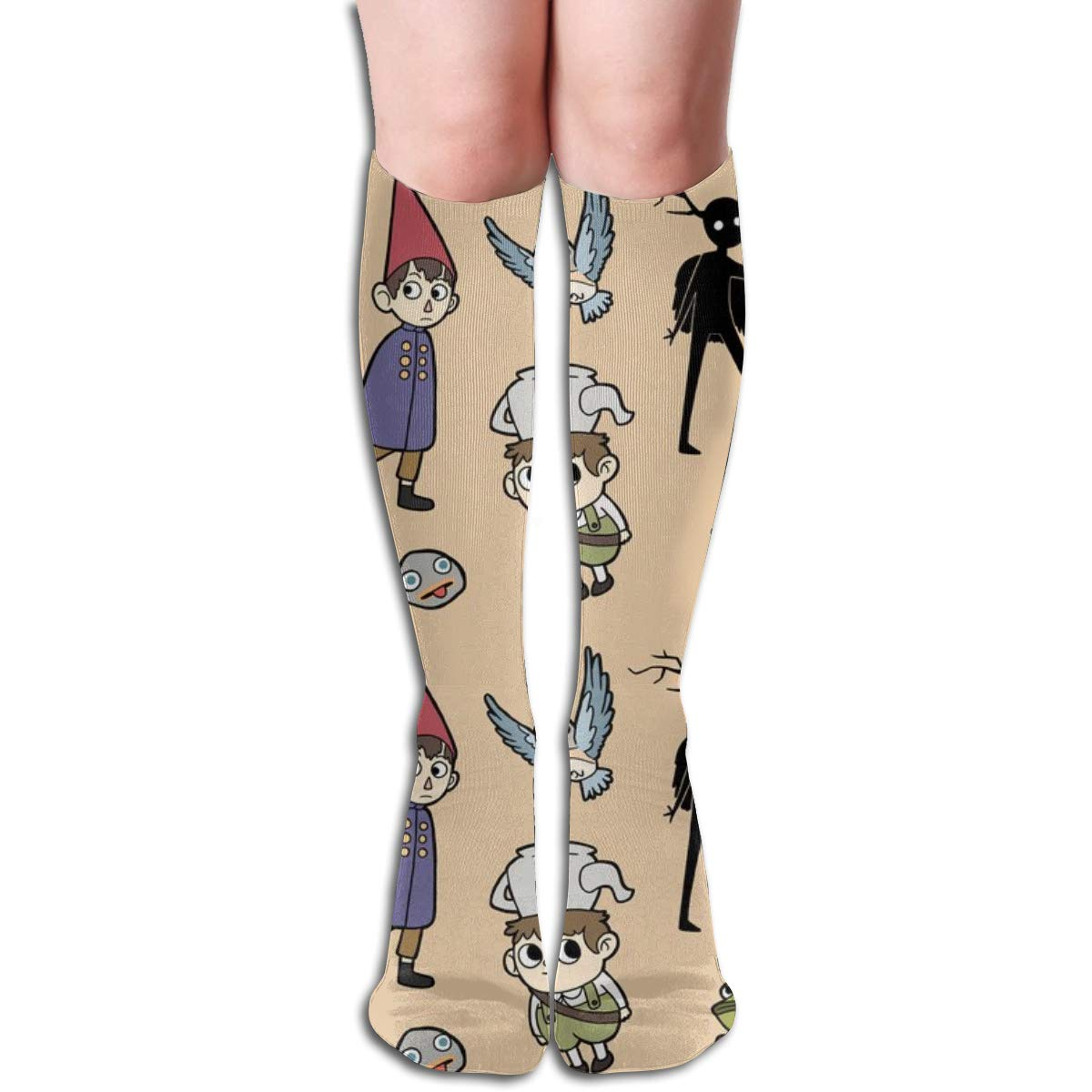 19.6 inch Pillowcase shop Over The Garden Wall Pattern Women Tube Knee Thigh High Stockings Cosplay Socks 50cm