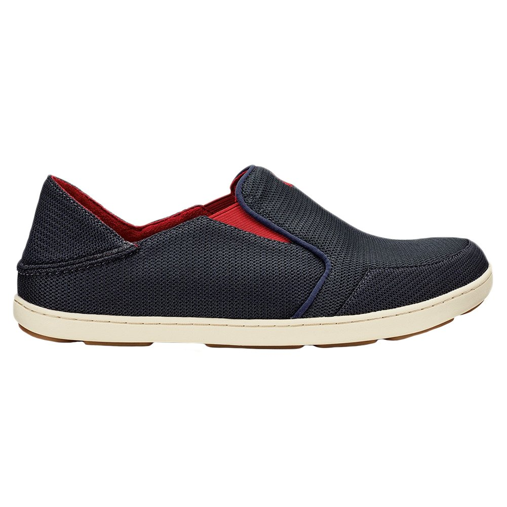 OLUKAI Nohea Mesh Shoe D(M) - Men's B01HH3QEES 11 D(M) Shoe US|Carbon/Deep Red 168924
