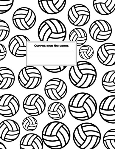Composition Notebook: College Ruled 8.5 x 11 Large, 115 Pages: Volleyball (Your New Favorite Journal) (Volume ()