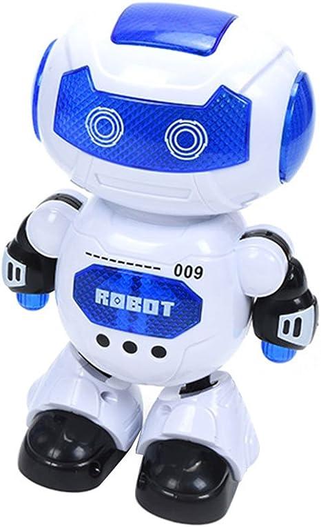 Paul03Daisy Dancing Robot Dazzling Light Music One key Dance