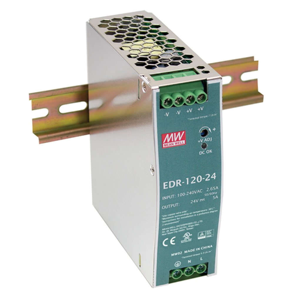 MEAN WELL EDR-120-12 Single Output DIN Rail Power Supply 12V 10 Amp 120W