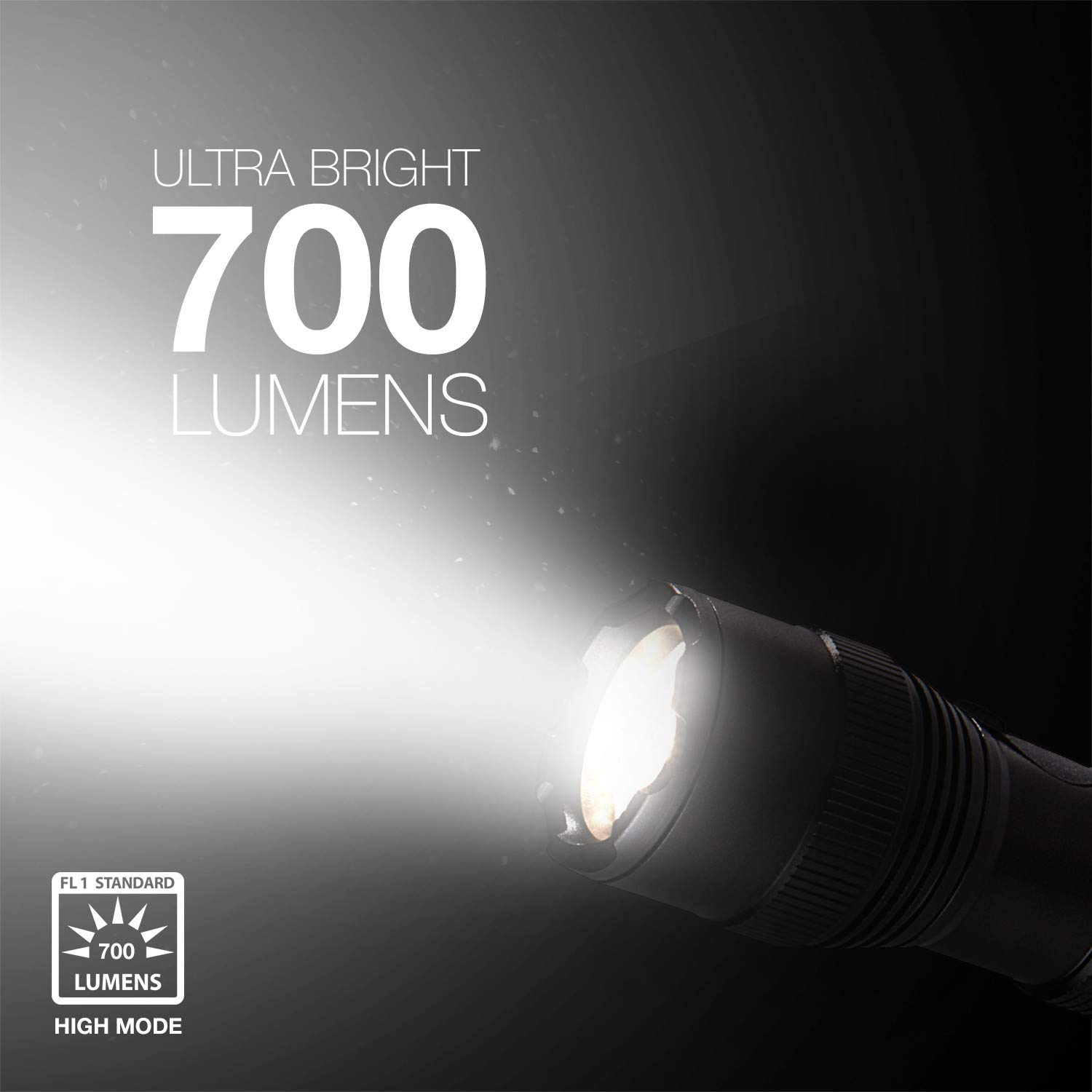 Energizer Tac-r 700 Rechargeable Tactical Flashlight, 700 Lumens 3 Modes by Energizer (Image #3)