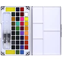 NC Deluxe Artist Watercolour Painting Set 36 Colors Solid Water Colours Paint Accessories, Great for Artists, Beginner…