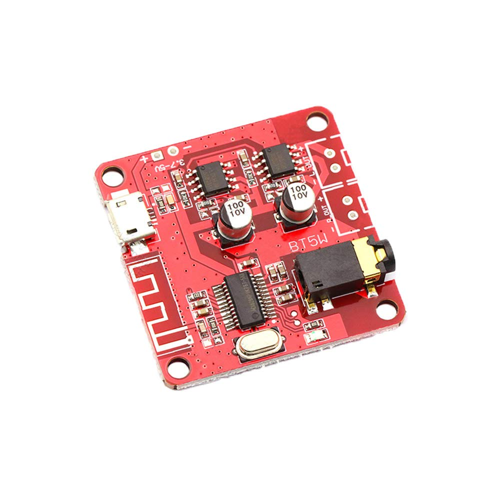 Ximimark 1Pcs 3.7-5V MP3 Stereo Bluetooth 4.2 Receiver Module Lossless Decoder Board Car Stero Speaker Amplifier Module DIY Speaker Modified