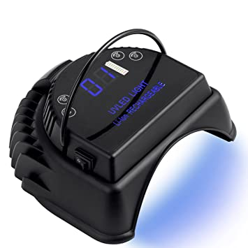 Amazon.com: MINI LOP 64W Rechargeable Pro LED Gel Nail UV Light ...