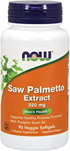 NOW Supplements, Saw Palmetto Extract 320 mg with Pumpkin Seed Oil, Men's Health*, 90 Veg Softgels