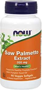 Now Foods, Saw Palmetto Extract, With Pumpkin Seed Oil, 320 Mg, 90 Veggie Softgels