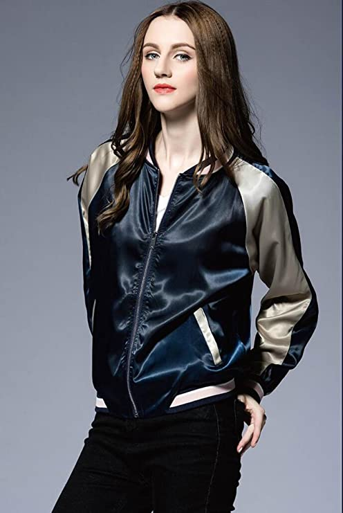 3cea0d4909c Amazon.com  Sherri Women s Floral Embroidered Baseball Jackets  Clothing