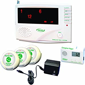 SMART CAREGIVER 433-SYS30 Channel Central Monitoring Unit with 3 Nurse Call Buttons, Pager And Ac Adaptor