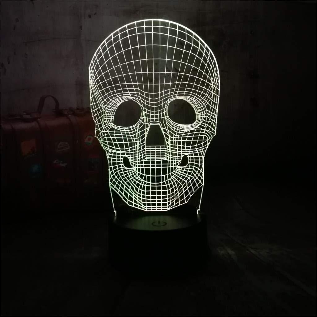 3 Pack, Amazing Design New 3D Skull Atmosphere Night Lights ...