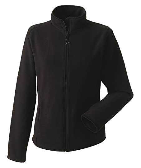 Jerzees Ladies Fitted Micro Fleece Jacket Full Zip: Amazon.co.uk ...
