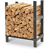 Napa Forge by Pilgrim Pro 24″ Firewood Rack Log Holder, Durable Black Powder Coat