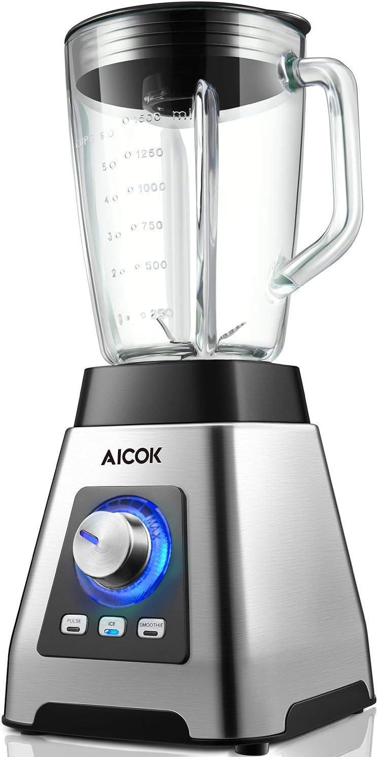 AICOK - Batidora de vaso, 1000 W, 1,5 camas: Amazon.es: Hogar