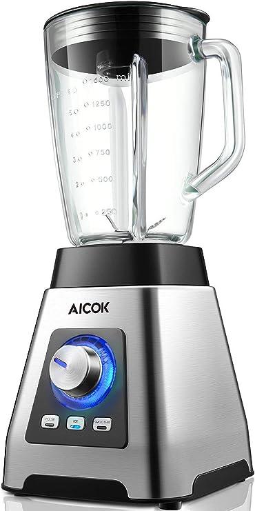 AIC OK licuadora, batidora de alta potencia 1000 W con 6 cuchillas ...