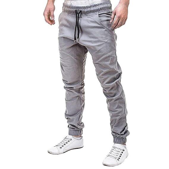 Doreleven👉👉💟 Chándal de Trabajo Hombre Hombres Pantalones de ...