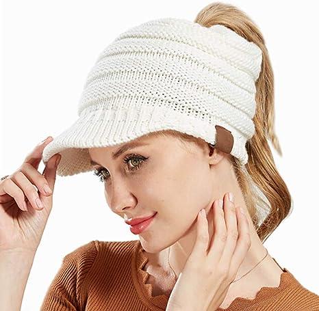 SELUXU Gorro de béisbol de Punto para Mujer Sombrero de béisbol de ...