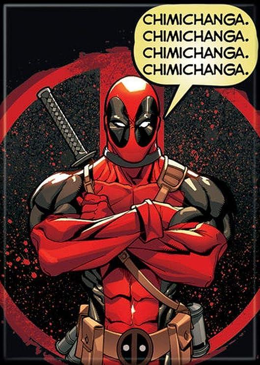 Marvel Comics Deadpool Chimichanga Stand Comic Art Refrigerator Magnet UNUSED