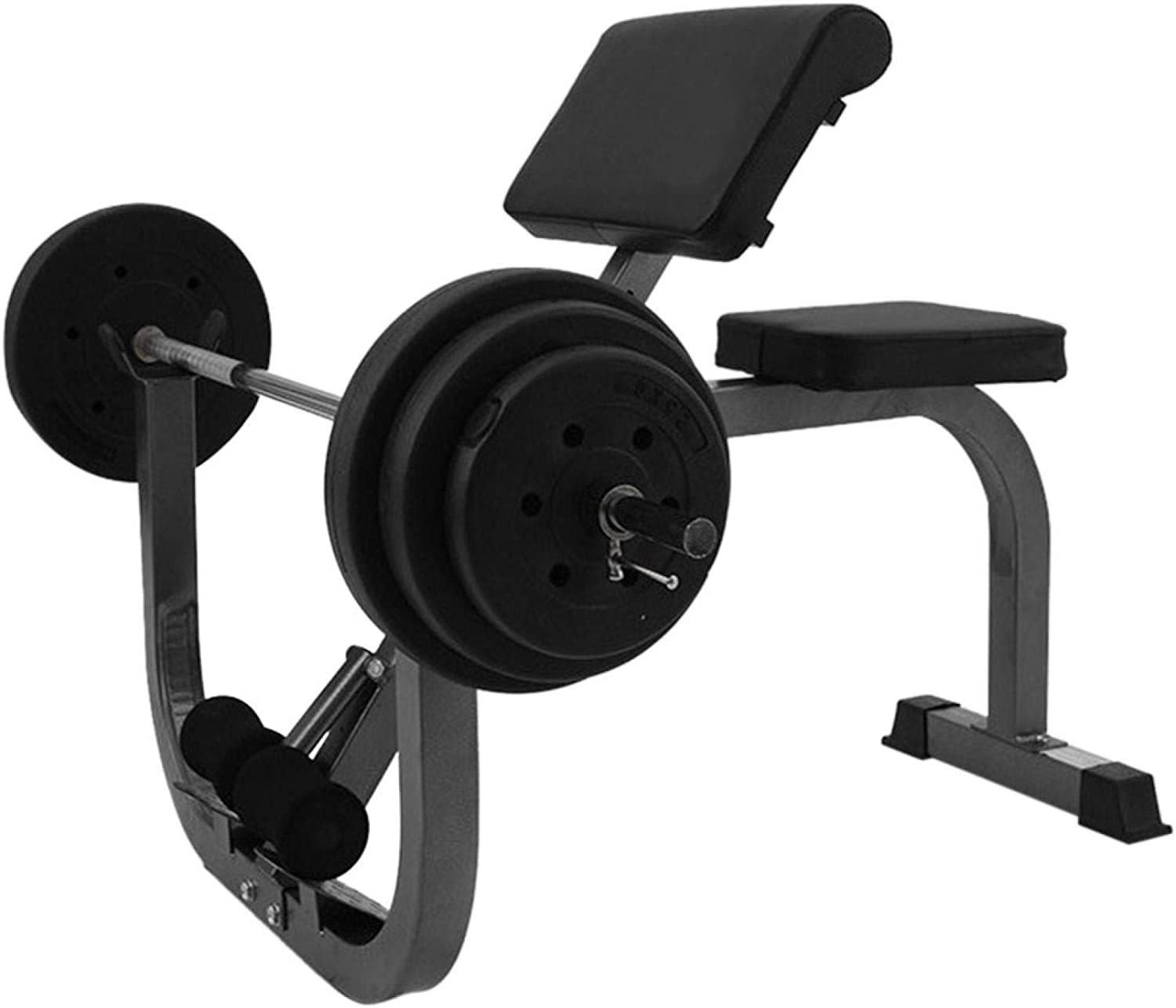 Roman Chair Weight Bench Arm Curl Weight Bench Preacher Curl Isolated Barbell Dumbbell Biceps Station Roman Chair,Maximum load capacity of 330 pounds US stock