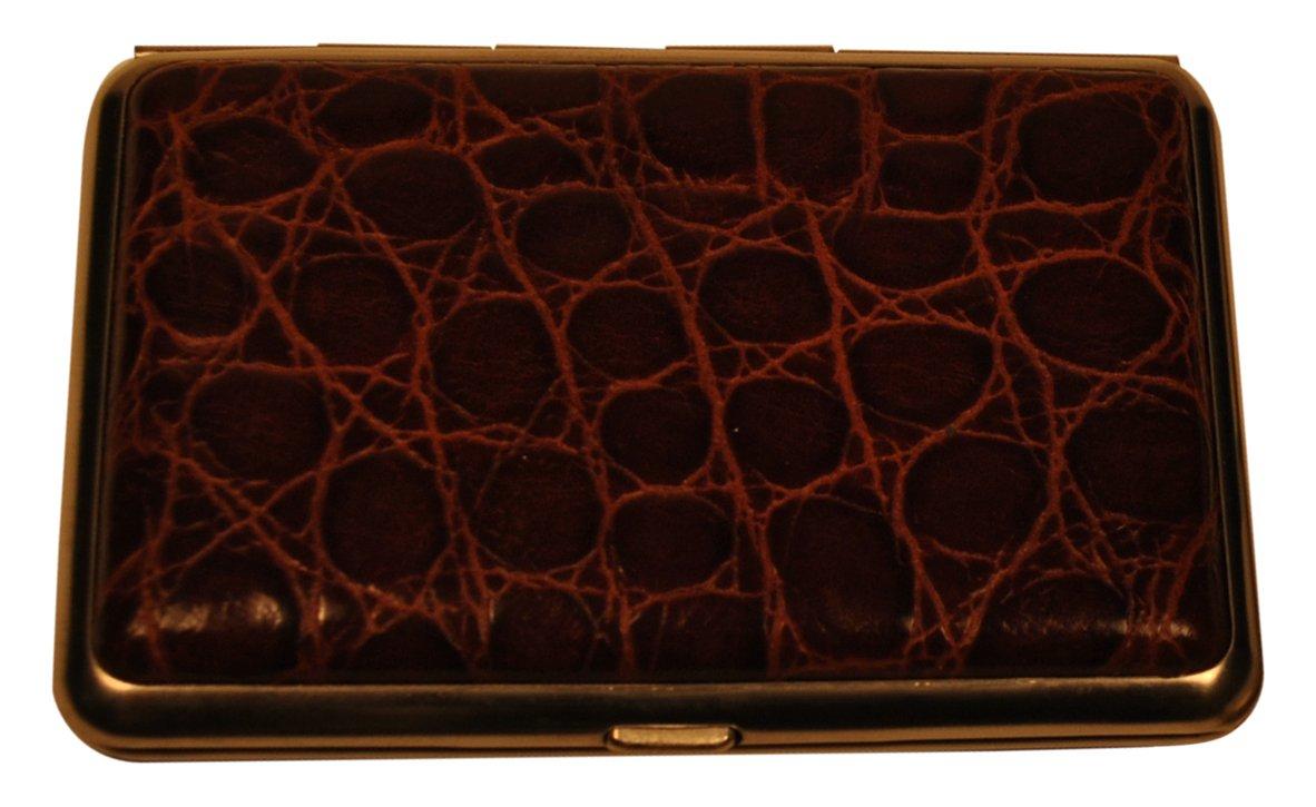 バッドLeather Large ブラウン Croco Calf 4-sectionピルボックス L コニャック ブラウン MG 8385C-51 B00OXSGTEQ コニャック Large, 冬虫夏草 サプリ ギャバ太郎SHOP:84ddf9ef --- artmozg.com
