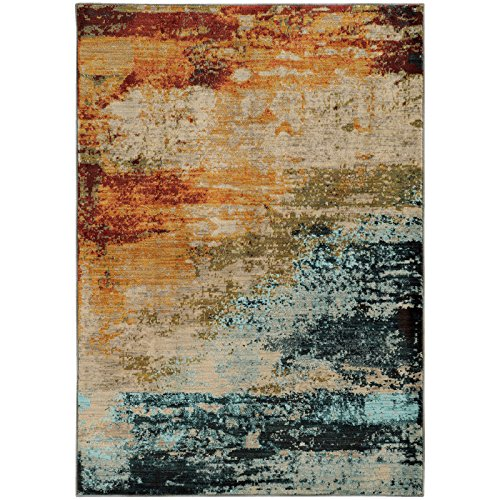 - Oriental Weavers 6365A Sedona Collection Area Rug, 3'10 x 5'5