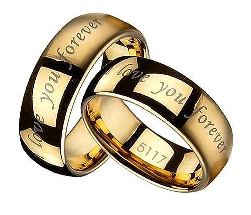 Anillos de boda anillos socio bodas anillos de compromiso amistad de tungsteno/grabado diamante gratis