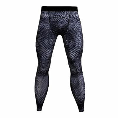 minzhuzhu Men's Compression Tights Cool Dry Sports Leggings for Running Exercise