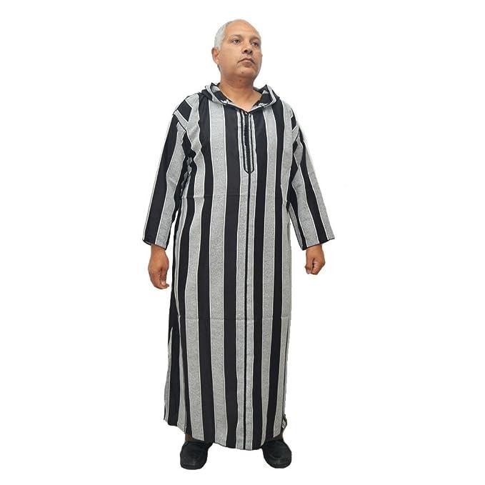 Amazon.com: Horus Artesanía de Egipto galabeya, Chilaba, djellaba, Tunic, Caftan Moroccan Pattern with Cotton Hood. Length Without Hood is 140 cm and Width ...