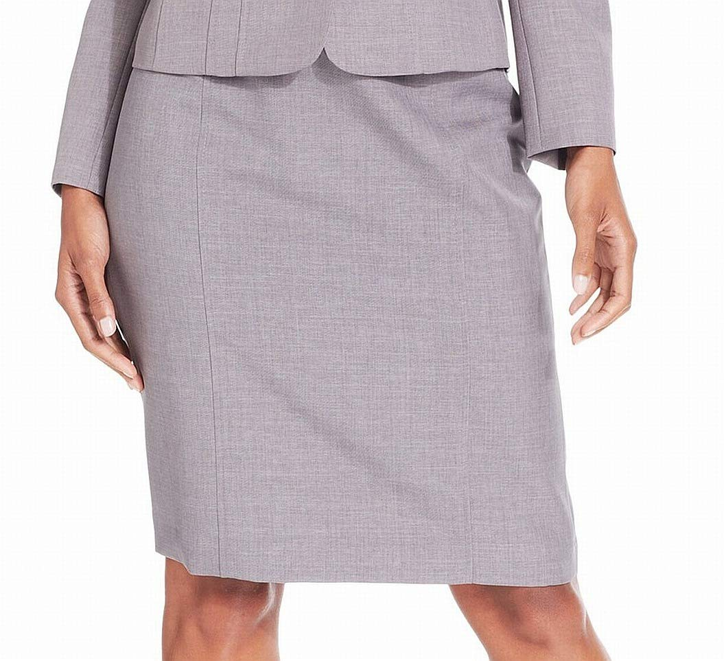 Kasper Womens Solid Flat Front Pencil Skirt Gray 16P