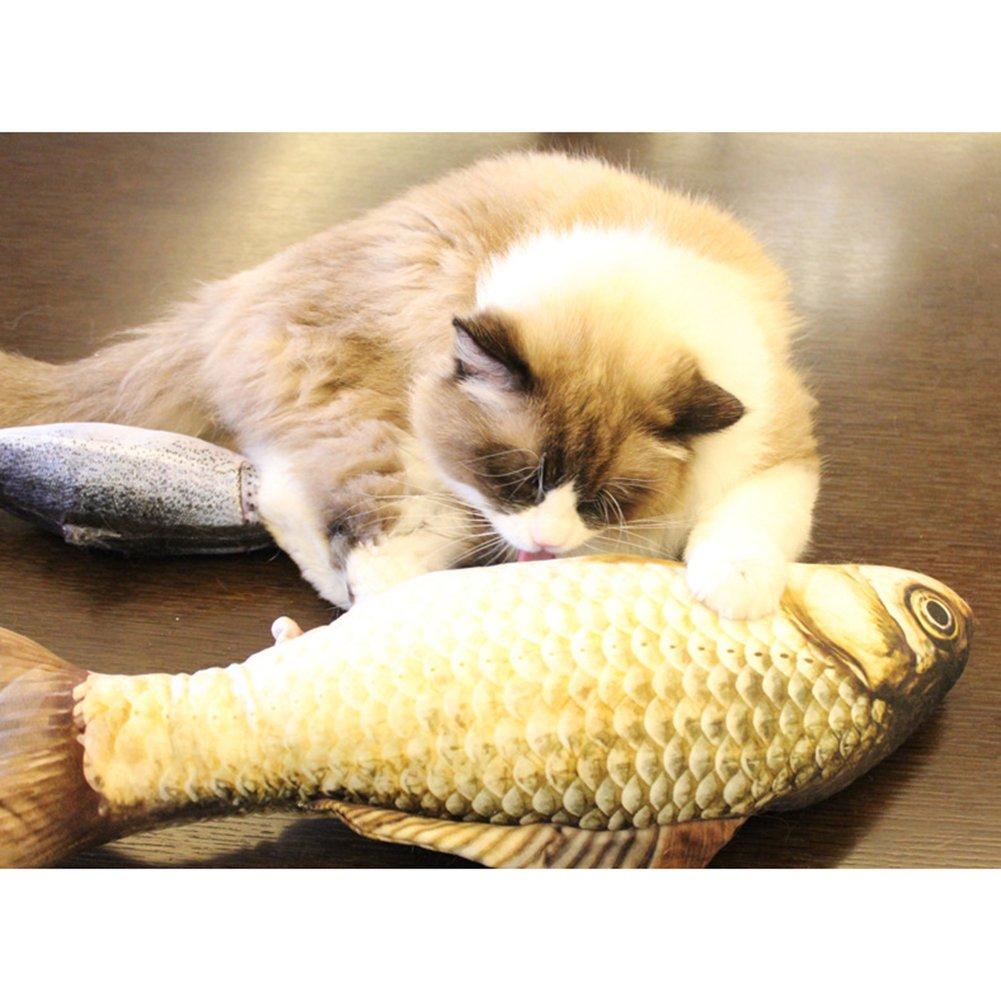 Da.Wa Pet Catnip Toy Cotton Stuffed Catmint Toy Simulation Scratch Chew Pilow Pet Supplies for Pet Toys Games Playing Pet Gift Red Arowana 20cm by Da.Wa (Image #7)