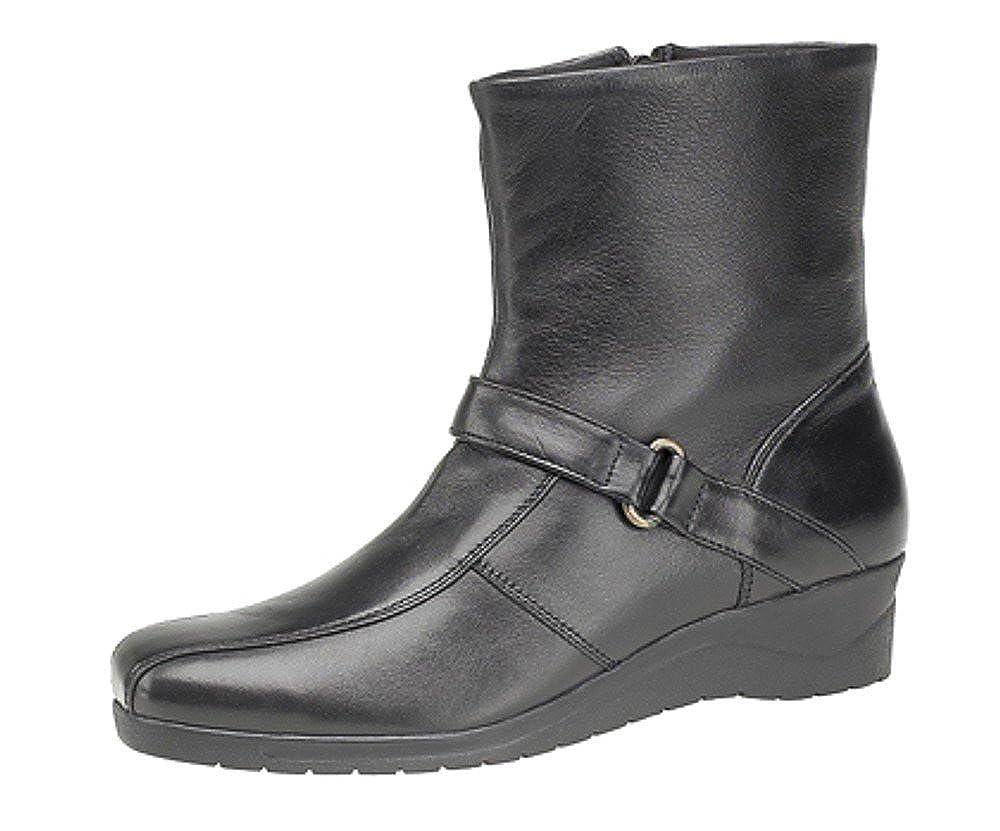 Mod Comfys Stifelletten Stifelletten Stifelletten mit Reißverschluss Innen Damen-Ankle-Stiefel, Echtleder, Keilabsatz, weich dab2af