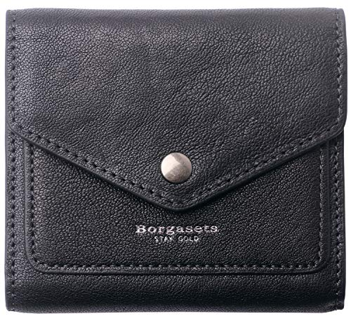 Small Leather Wallet for Women, RFID Blocking Women's Credit Card Holder Mini Bifold Pocket Purse (Vegetable Tanned Black)