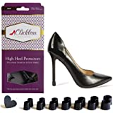CLICKLESS High Heel Protectors - Heel Caps - 7 Pairs/7 Sizes - For Stilettos and Slim Heels