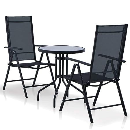 Sedie E Tavoli Da Giardino In Vimini.Fesjoy Set Di Mobili Da Giardino Tavolo Da Pranzo In Rattan 1