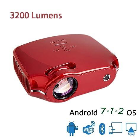 Proyector 4K, 3200 Lúmenes LED Inalámbrico 1080P HD ...