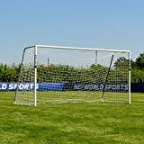 Forza Alu60 Soccer Goal - Club Spec Aluminum Soccer Goal (Choose Your Size 6ft x 4ft -> 24ft x 8ft) Long-Lasting and Weather-Resistant Alu60 Soccer Goals [Net World Sports] (6ft x 4ft)