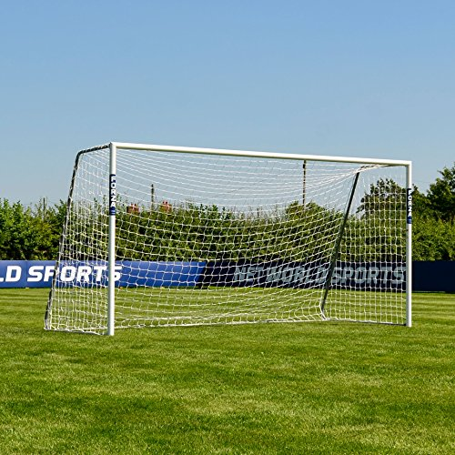 Forza Alu60 Soccer Goal - Club Spec Aluminum Soccer Goal (Choose Your Size 6ft x 4ft -> 24ft x 8ft) Long-Lasting and Weather-Resistant Alu60 Soccer Goals [Net World Sports] (18.5ft x 6.5ft)