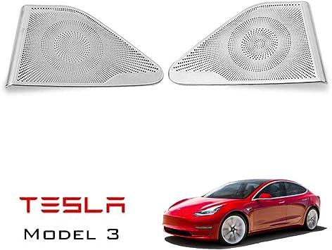 For Tesla Model 3 2017 2018 2019 4-Door Sound Speaker Cover Trims Black