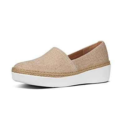 1f4897dd58e1e5 Fitflop Womens CASA Loafer Canvas Slip On Shoes  Amazon.co.uk  Shoes   Bags