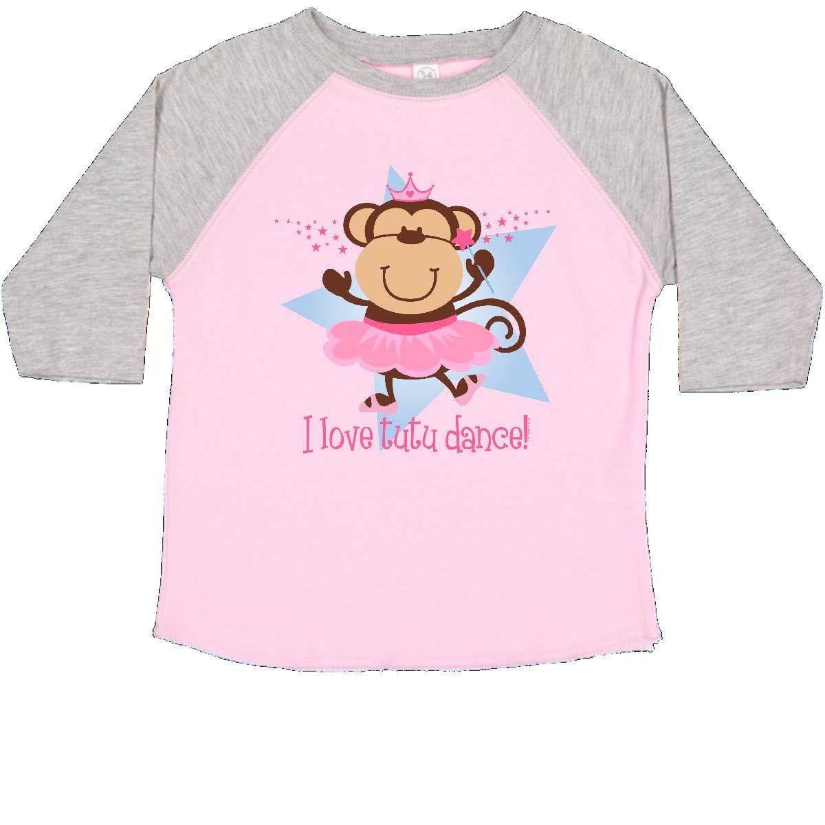 inktastic Monkey Love Tutu Dance Toddler T-Shirt